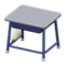 School Desk (Gray & Blue) NH Icon.png