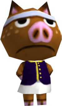 Hambo, an Animal Crossing villager.