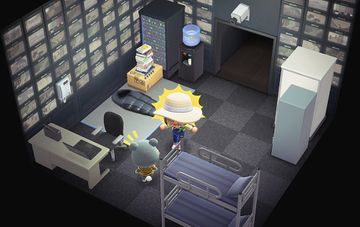 Interior of Barold's house in Animal Crossing: New Horizons