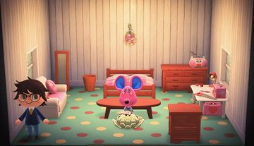 Interior of Candi's house in Animal Crossing: New Horizons