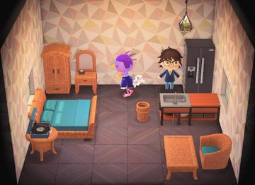 Interior of Queenie's house in Animal Crossing: New Horizons