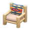 Log Chair (White Wood - Geometric Print) NH Icon.png