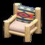 Log Chair (White Wood - Geometric Print)
