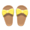 Ribbon Sandals (Yellow) NH Icon.png
