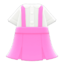 Skirt with Suspenders (Pink) NH Icon.png