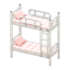 Bunk Bed (White - Checkered)