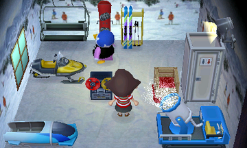 Interior of Puck's house in Animal Crossing: New Leaf