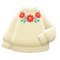 Flower Sweater (White) NH Icon.png