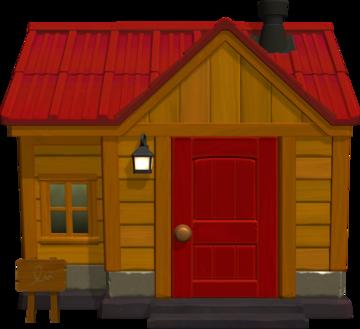 Exterior of Hazel's house in Animal Crossing: New Horizons