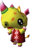 Patricia, an Animal Crossing villager.