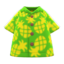 Pineapple Aloha Shirt (Green) NH Icon.png