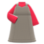 Sweetheart Dress (Greige) NH Icon.png