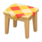 Wooden Mini Table (Light Wood - Orange) NH Icon.png