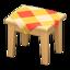 Wooden Mini Table (Light Wood - Orange)