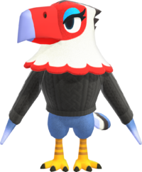 Amelia, an Animal Crossing villager.