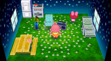 Interior of Puddles's house in Animal Crossing: City Folk