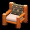 Log Chair (Orange Wood - Bears) NH Icon.png