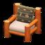 Log Chair (Orange Wood - Bears)