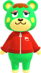 Charlise, an Animal Crossing villager.