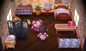 Interior of Stella's house in Animal Crossing: New Leaf