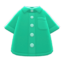 Short-Sleeve Dress Shirt (Green) NH Icon.png