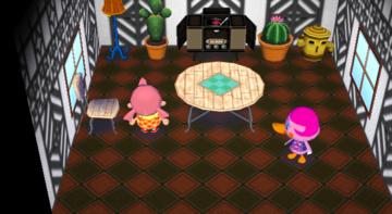 Interior of Miranda's house in Animal Crossing: City Folk
