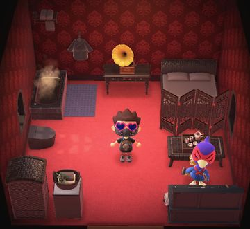 Interior of Phil's house in Animal Crossing: New Horizons