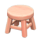 Wooden Stool (Pink Wood - None) NH Icon.png