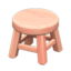 Wooden Stool (Pink Wood - None)