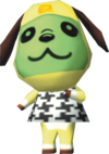 Bow, an Animal Crossing villager.