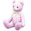 Giant Teddy Bear (Checkered - White)
