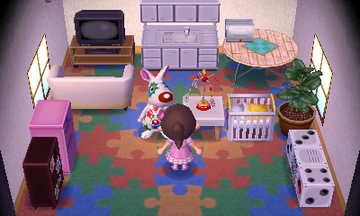 Interior of Astrid's house in Animal Crossing: New Leaf