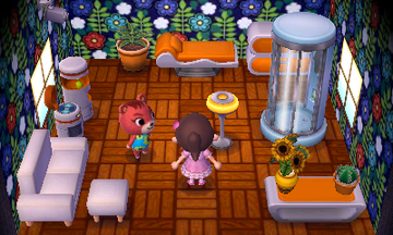 Interior of Cheri's house in Animal Crossing: New Leaf