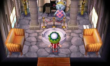 Interior of Klaus's house in Animal Crossing: New Leaf