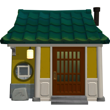 Exterior of Toby's house in Animal Crossing: New Horizons