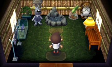 Interior of Walt's house in Animal Crossing: New Leaf