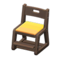 Study Chair (Dark Brown - Yellow) NH Icon.png