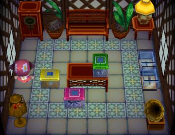Interior of Bill's house in Animal Crossing