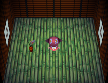 Interior of June (villager)'s house in Animal Crossing