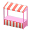 Stall (Pink - Red Stripes)