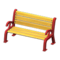 Garden Bench (Red) NH Icon.png