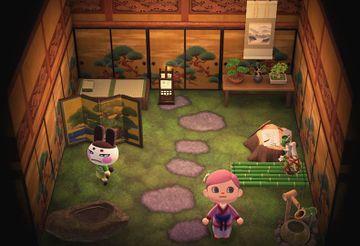 Interior of Genji's house in Animal Crossing: New Horizons