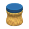 Rattan Stool (Light Brown) NH Icon.png