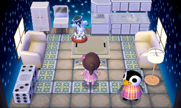 Interior of Aurora's house in Animal Crossing: New Leaf