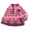 Printed Fleece Sweater (Purple) NH Icon.png