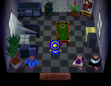 Interior of Butch's house in Animal Crossing