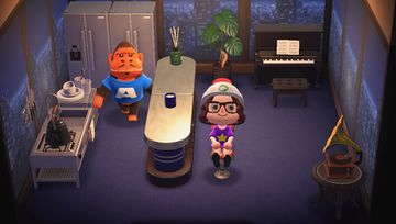Interior of Cesar's house in Animal Crossing: New Horizons