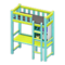 Loft Bed with Desk (Light Blue - Black) NH Icon.png