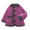 Quilted Down Jacket (Purple) NH Icon.png