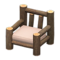 Log Chair (Dark Wood - None) NH Icon.png
